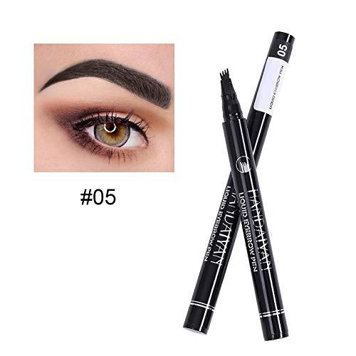 NEU 5 Farben Wasserfest Pen Microblading Gabelspitze Augenbrauenstift Tattoo Stift (5)