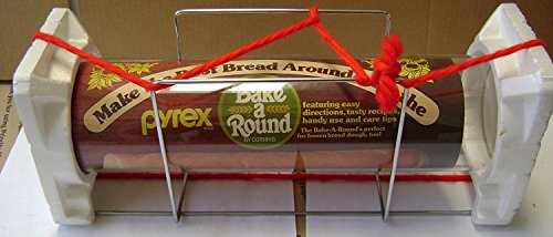 Pyrex Bake-A-Round Bread Loaf Mold Baking Tube - 14 inches x 3 1/2 inches in diameter - Includes rack stand