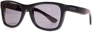 Cassette Bamboo Wood Sunglasses, The Jackson, Black Bamboo, Smoke Polarized Lens