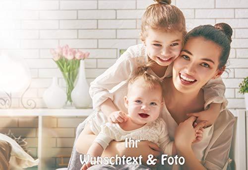 Tortenaufleger Tortenbild Kindergeburtstag Einschulung Kommunion Hochzeit Taufe Muttertag Vatertag Konfirmation Wunschtext Foto essbar Rechteckig Ø 20x28cm