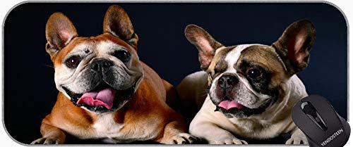 Alfombrilla De Raton Extendida XXL, Animal Francés Bulldog Non-Slip Goma Mousepad