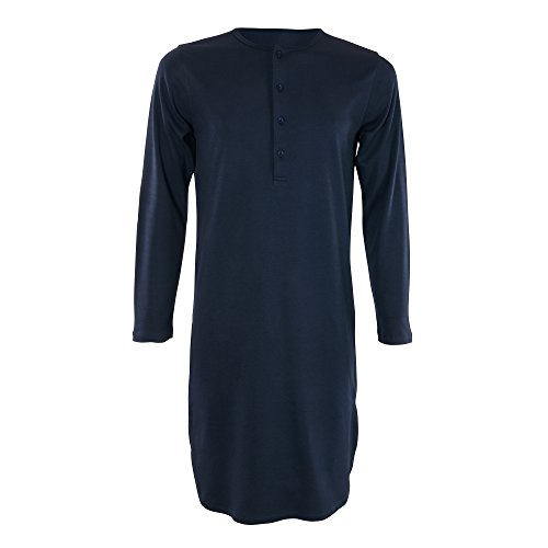 Living Crafts Retro-Nachthemd , Blau (Dark Navy 93) - L