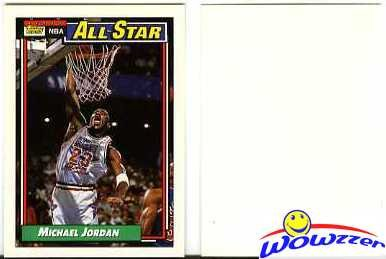 1992 Topps #115 Michael Jordan All Star ERROR Blank Back Topps RC Year Very RARE ! Shipped in Ultra Pro Top Loader to Protect it!
