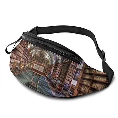 Lsjuee Library Bookshelf Fashion Casual Waist Bag Fanny Pack Travel Bum Bags Running Pocket for Men Women