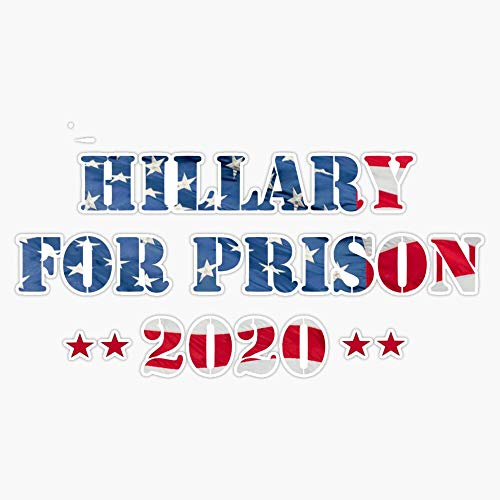 TCT Trading Hillary for Prison 2020 American Flag and Stars Sticker Vinyl Stickers Waterproof Decal Car, Laptop, Bumper Stickers 5'
