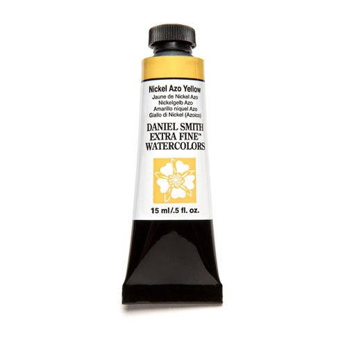DANIEL SMITH Extra Fine Watercolor Paint, 15ml Tube, Nickel AZO Yellow, 284600061