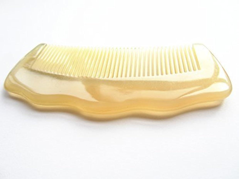 バブル場所に話すMyhsmooth Sh-byg-nt 100% Handmade Premium Quality Natural Sheep Horn Comb Without Handle(4.8''Long) [並行輸入品]