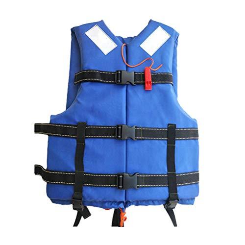Prevessel Chaleco de Baño para Adultos Chaleco Salvavidas Ajustable de Verano Chaqueta de Baño de Ayuda de Flotabilidad Chaqueta de Seguridad de Buceo con Silbato para Deportes Acuáticos