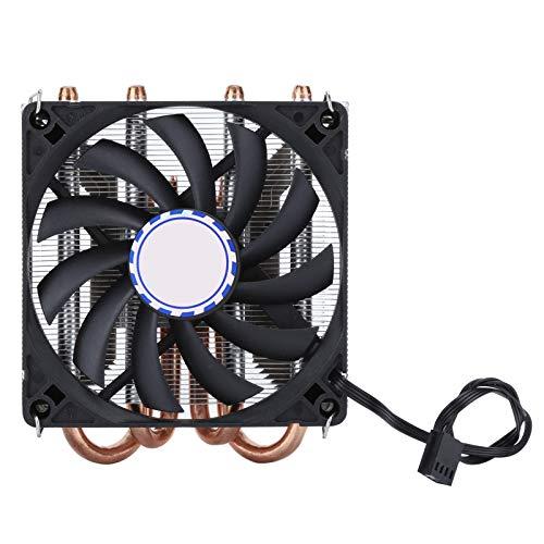Ventilador de refrigeración de CPU, Ventilador de CPU Delgado con 4 Tubos de Calor, disipador de Calor de 600 a 2500 RPM de 4 Pines, Enfriador de chasis de 9 cm para computadora