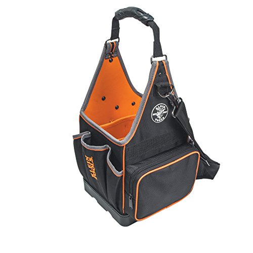 Klein Tools 55415814 Tradesman Pro Tote with 20 Pockets Made of 1680d Ballistic Weave and a Fully Molded Bottom 8Inch