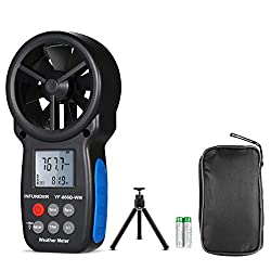 Handheld Anemometer Barometer INFURIDER YF-866BWM Wind Speed Meter,Wind Gauge with Wind Speed/Temp,Altitude, Barometric Pressure Meter for Weather Data Collection Outdoor?Tripod Included?