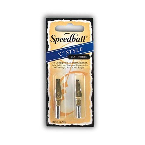 Unbekannt Speedball - Plakatfeder - 2-er Set - C 0 und C 1 - Flach