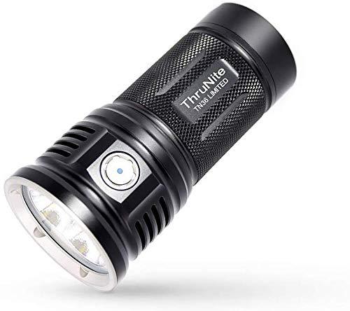 ThruNite TN36 Taschenlampe 11000 Lumen LED Taschenlampe 3*CREE XHP70 Extrem Hell Handlampe mit 5 Modi und IPX8 Wasserdicht für Lange Zeit Outdoor Sportarten- Kalt Weiß