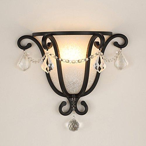 LRW Europese retro decoratie, bloemenmotief, lampenkap, voor woonkamer, allee, slaapkamer, nachtkastje, lamp