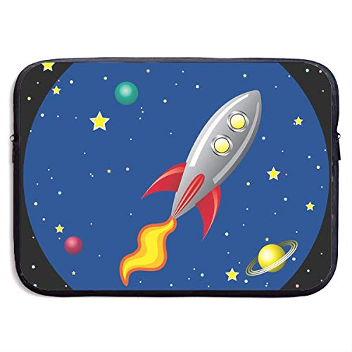 Fashion Computer Liner Sleeve Case Cool Rocket in Space for MacBook Pro/MacBook Air/Asus/Dell,13inch