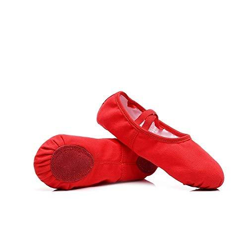 Schnürfreie Tanzschuhe für Mädchen und Kinder Erwachsene Ballett Körper Praxis Soft Bottom Camel Tanzen Katze Krallen Schuhe, - 3 - Größe: 42 EU
