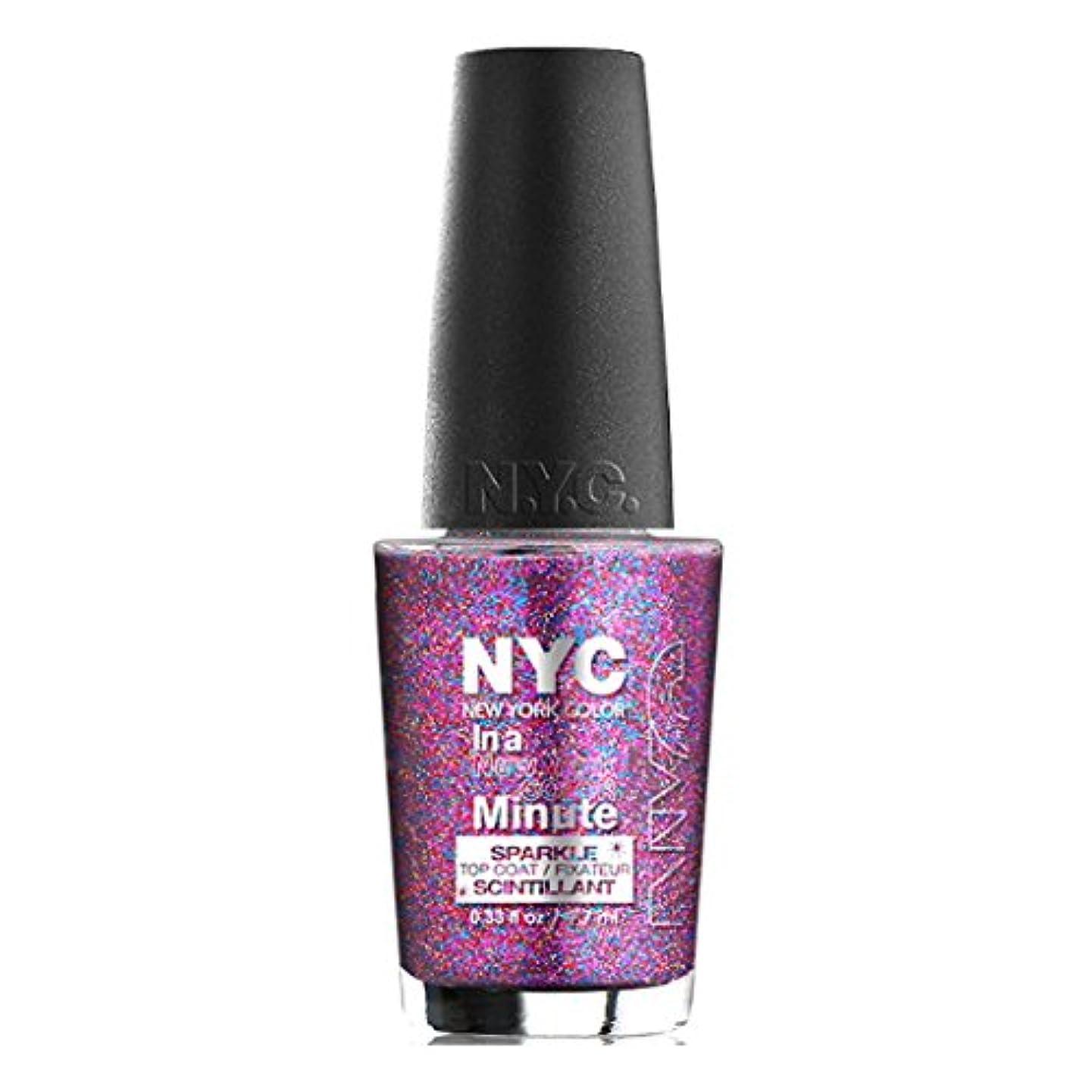 オーロックテラス放射性(3 Pack) NYC In A New York Color Minute Sparkle Top Coat - Big City Dazzle (並行輸入品)