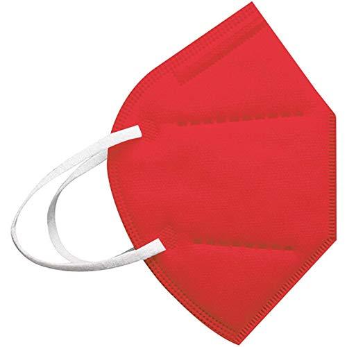 Modaworld 25 Stück Erwachsene, 5 Lagige Staubdicht Mund-Nasen Bedeckung Atmungsaktiv Stoff Bandana Halstuch Schals Mund-Nasen-Schutz (20Stücke, Red)
