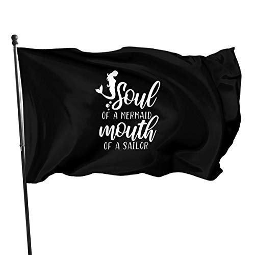 N/A ziel van zeemeermin mond van zeeman logo outdoor vlag 4x6 voeten decoratieve vlag voor achtertuin, huis, partij