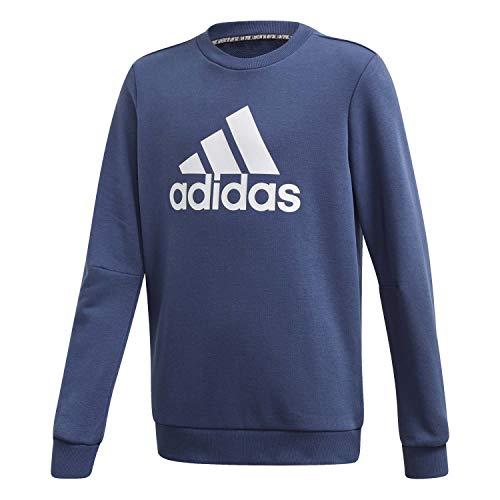 adidas Jungen JB MH Crew Sweatshirt, Indtec/Blanco, 152 (11/12 años)