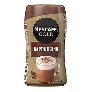 Nescafé Gold Cappuccino Natural, Cremoso Café Soluble Con Leche Desnatada, Bote G, Chocolate, 250 Gramo