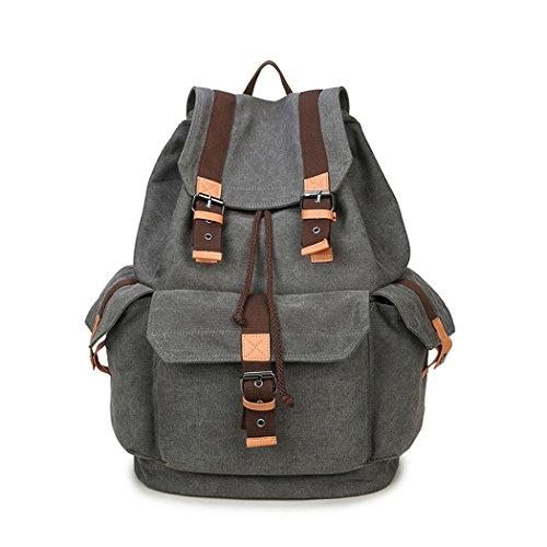 Canvas shopping sac à dos voyage d'alpinisme datant sacs à dos d'ordinateur léger , gray