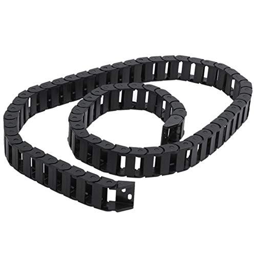 Cadena Arrastre Plastico Negro 10 x 20 mm 1m abierto en ambos laterales de plástico de cable de arrastre de cable Cadena Arrastre