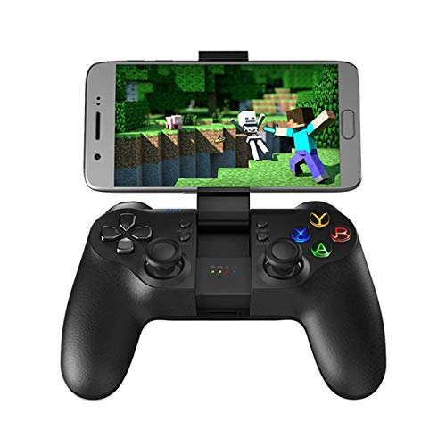 QCHEA Gamepad Controller, 2.4G Receptor inalámbrico Bluetooth Controlador de Juegos móvil Gamepad Joystick Soporte for Android Tablet PC Windows TV Box PS3 con Cable USB
