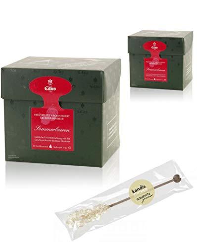 EILLES Tea Diamonds Sommerbeeren Mega-Sparset mit 2 Boxen und gratis Kandisstick von Gourvita Moments