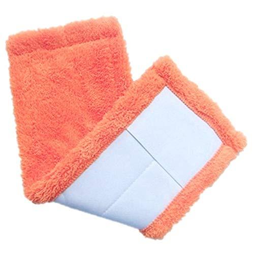 Juego de reemplazo de pelusa de almohadilla de limpieza para el hogar, limpieza de polvo para el hogar, paño de limpieza para pisos, paño de limpieza de microfibra, herramienta para trapeador, naranja