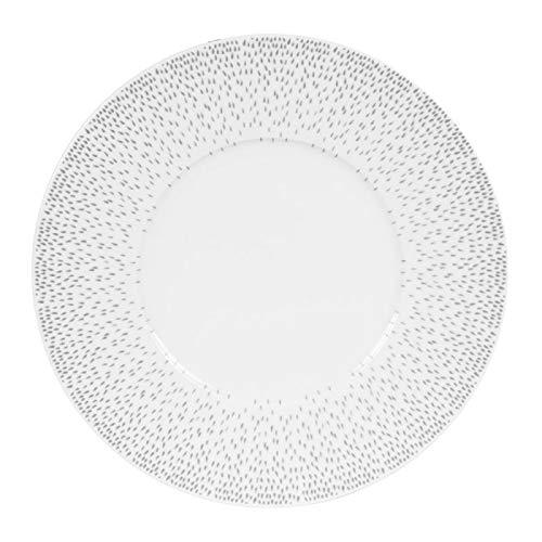 Assiette plate 27 cm Éole gris (Lot de 6)