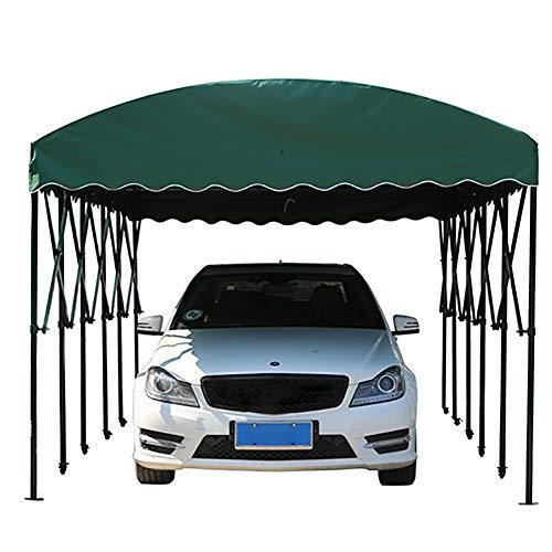 ZDYLM-Y Carpas portátiles Plegables para Coche, Carpa para Fiestas con Parasol/Impermeable/Resistente al Viento, Garaje móvil para el hogar,Verde,4x6x2cm