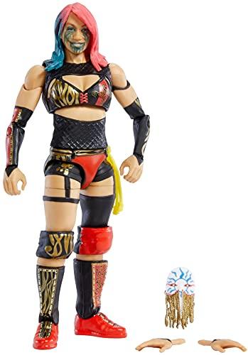 WWE Élite Figura de acción Asuka, muñeca articulada de juguete con accesorios para...