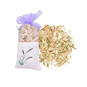 HXXB Artificial Flowers Natural Dried Flowers Rose Jasmine Lavender Bud Flower Sachet Bag Filling Real Natural Lasting Lavend Car Room Air Refreshing Artificial Plant