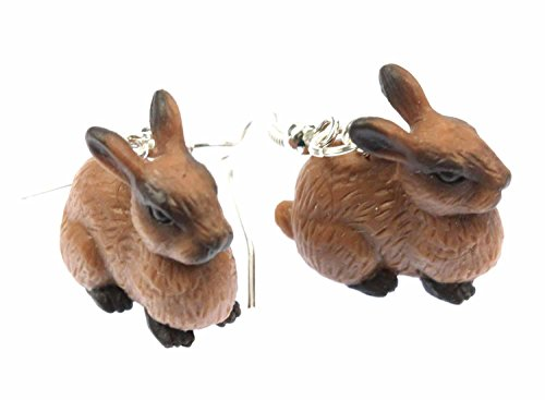 Kaninchen Ohrringe Kaninchenohrringe Hase Miniblings Osterhase braun Gummi