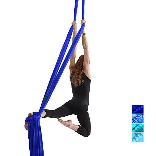 WMOFC El paño del Vuelo de Yoga Swing, aérea Tela de Seda/Tejido Profesional, Herramientas invertidas, una Mayor flexibilidad y Fuerza de la Base, únicamente un paño sin Accesorios (10M)