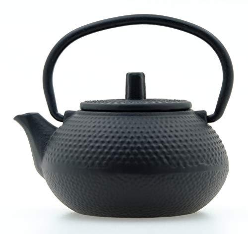 Gifts Of The Orient - Clavo De Gotero - Tetera De Hierro Fundido En Miniatura - Negro Minúsculo Agua Mini Tetsubin