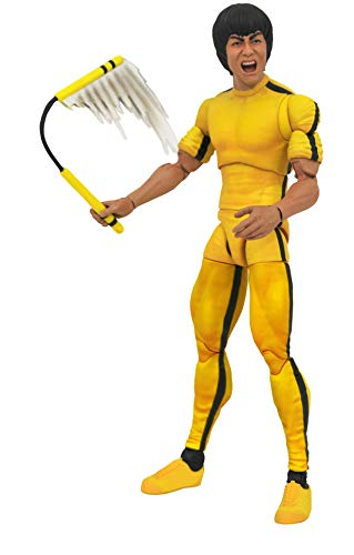 DIAMOND SELECT TOYS Bruce Lee (Yellow Jumpsuit Version) Select Action Figure, Multicolor, Standard
