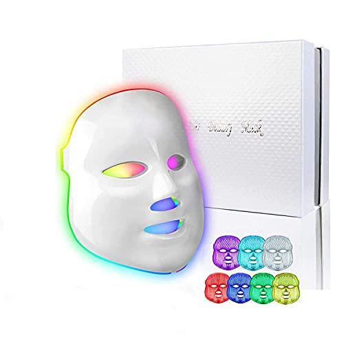 obqo led Gesichtsmaske Lichttherapie 7 farben LED Akne Maske Beauty für anti aging