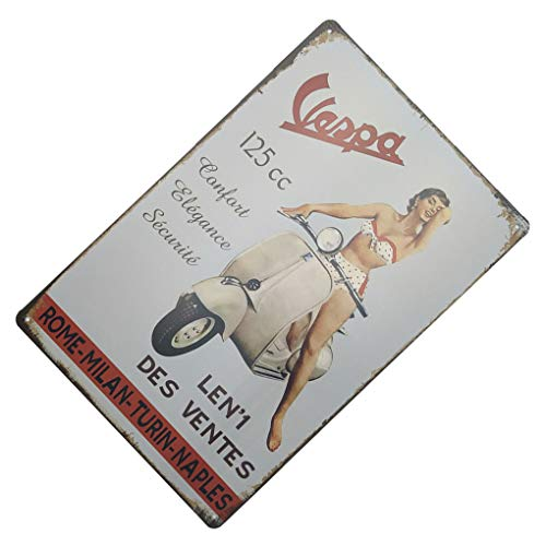 Topker Vintage Retro Diseños de la Pared del Hierro del Coche Cartel de la...