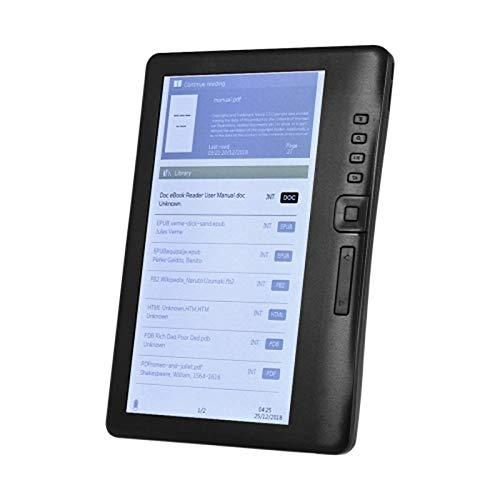 Nrpfell Schermo Portatile Un Colori da 7 Pollici 800 X 480P E-Reader Schermo Anabbagliante Incorporato 4 GB Memoria Retroilluminazione Riproduzione Musica Visione Video Scheda TF
