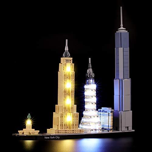 BRIKSMAX Led Beleuchtungsset für Lego Architecture New York City, Kompatibel Mit Lego 21028 Bausteinen Modell - Ohne Lego Set