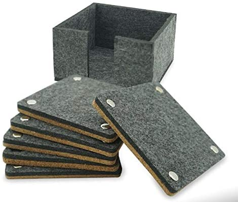 Arts Louisville-Jefferson County Mall Educated Max 49% OFF Felt Square Coasters for Absorbent Cork