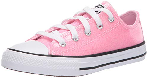 Converse Chuck Taylor All Star Ox Coated Glitter Rosa/Schwarz (Cherry Blossom/Black) Synthetik 33½ EU