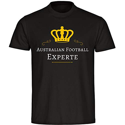 Multifanshop T-Shirt Australian Football Experte schwarz Kinder Gr. 128 bis 176, Größe:176