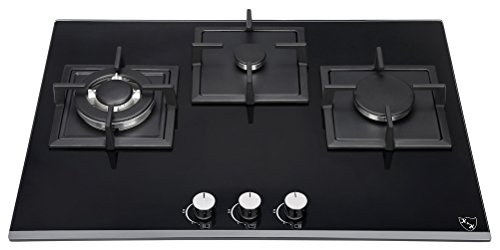 K&H Piano cottura a Gas 3 Fornelli 70cm 3Z-KHGW-3