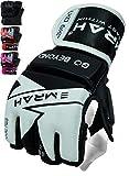 EMRAH 2.0 MMA Gloves | Pro Grip Grappling | MMA gloves for Training (Black/White, Medium)