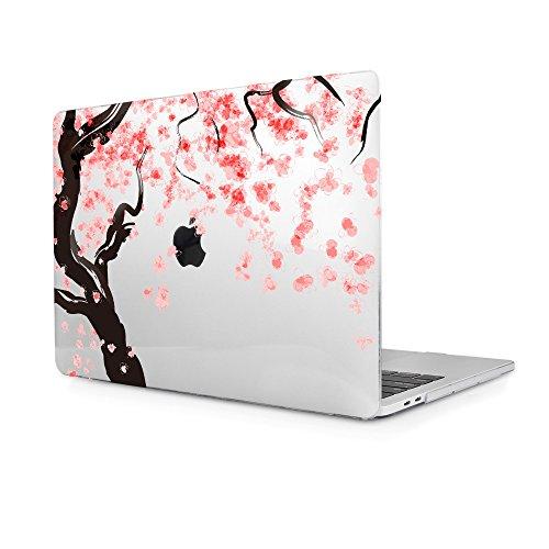 TwoL Carcasa MacBook Pro 13 Retina,Flores de Cerezo Plástico Funda Dura para MacBook Pro 13 Retina (A1502/A1425) (Transparent)