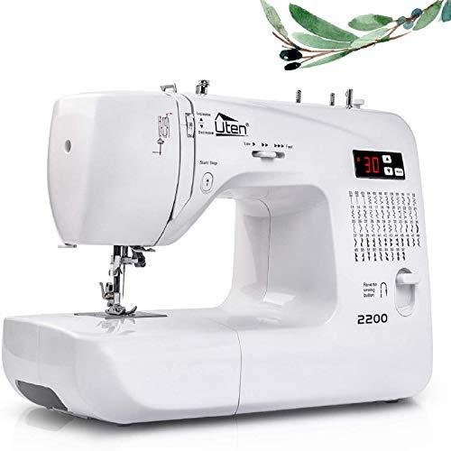 Uten Máquina de Coser Portatil Electrica 60 Puntadas maquina coser manual con Luz de LED para Principiantes y Expertos