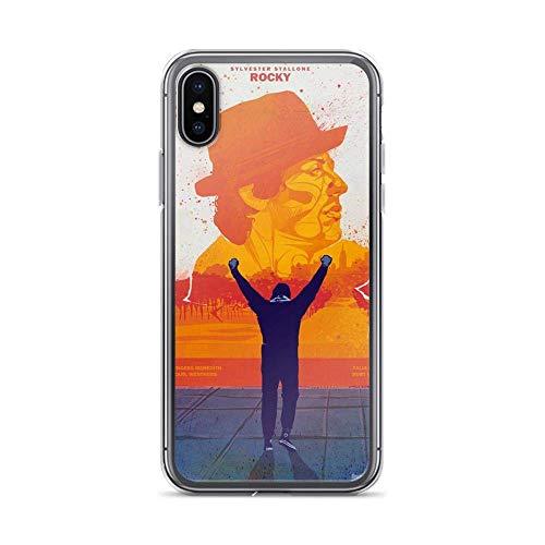 JSBFR Funda Compatible con iPhone 11 Pro Case Rocky Balboa Work Hard Boxer Boxing Movie Phone Case